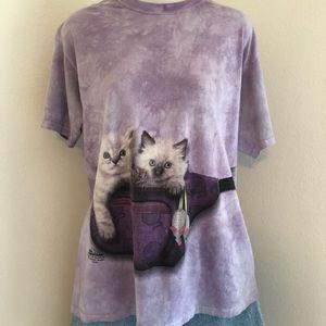 The Mountain Tie-Dye Kitty Fanny Pack Shirt